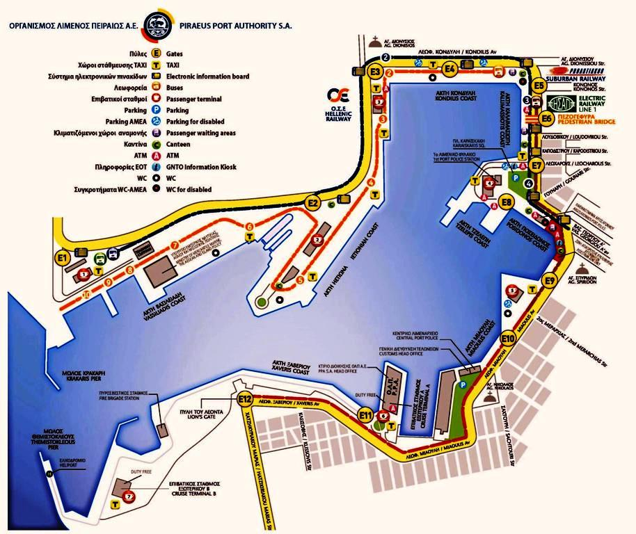 map of piraeus port