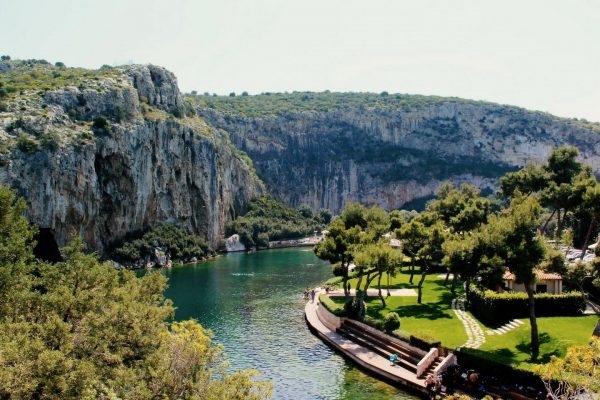 Lake Vouliagmeni Athens Greece