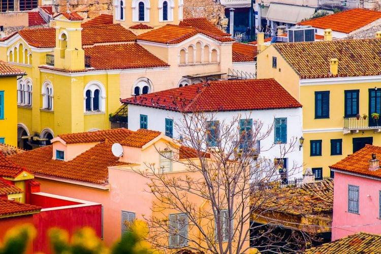 athens plaka houses