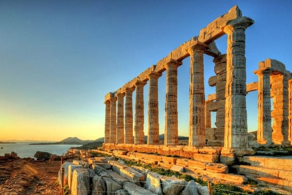 poseidon temple cape sounion athens greece
