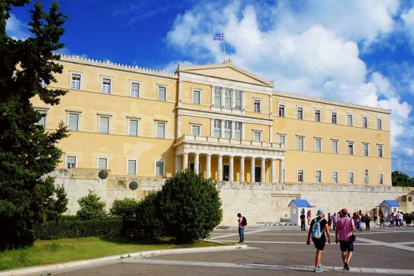 Greek Parliament in Syntagma Square in Athens