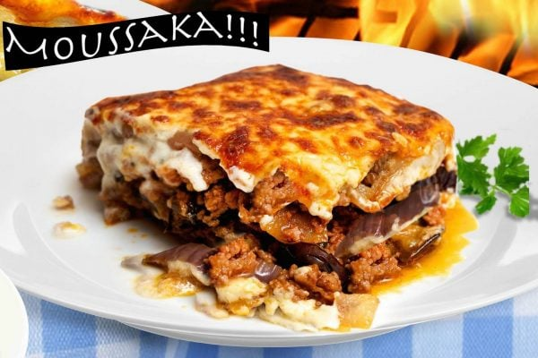 Moussaka, traditional Greek food