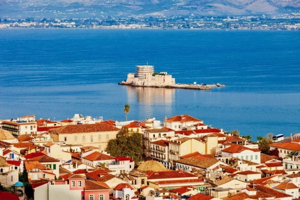 Nafplion and the Isle of Mpourtzi