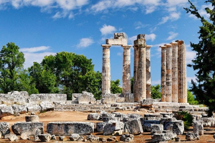 temple of zeus in nemea greece