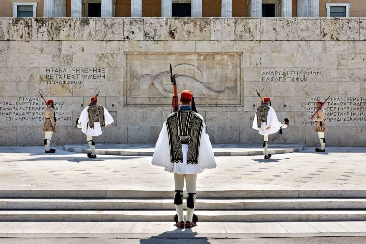 guards at syntagma, athens